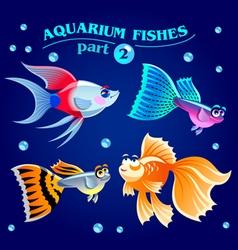Freshwater aquarium fishes vector