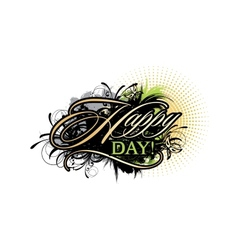 Abstract inscription Happy day vector image