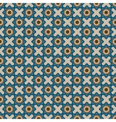 Abstract pattern with blue flowers vector image vector image