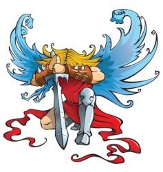 Angel the warrior vector