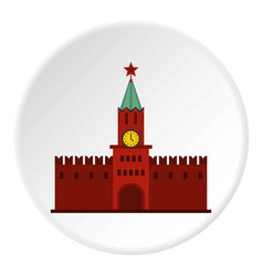 kremlin icon circle vector image