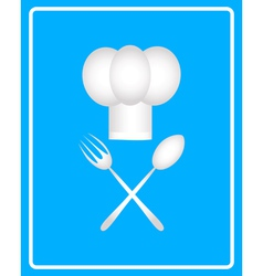 spoon fork and toque vector image