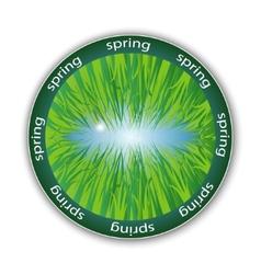 spring label vector image