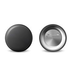 3d realistic black metal plastic blank vector image