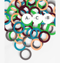 3d rings on grey geometrical modern abstract vector