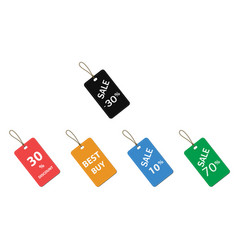5 price tags color vector