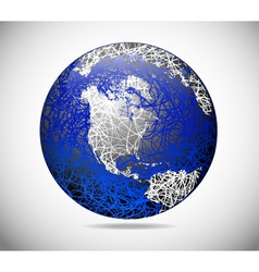 abstract american globe vector image
