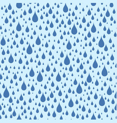 abstract seamless pattern raindrops in blue vector image