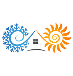 Air conditioning and ventilation house vector