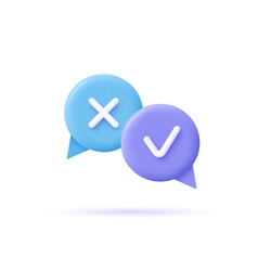 assignment tasks icon speech bubbles with marks vector image