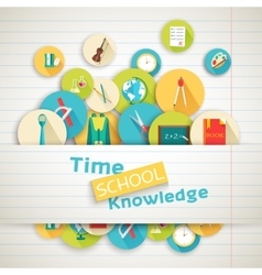Back to school education art icons vector image