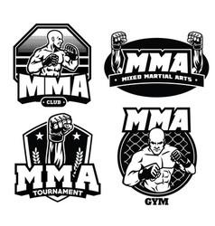 badge design mma vector image