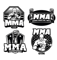 badge design of mma vector image