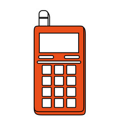 Blank screen cellphone with buttons and vector