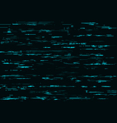 Blue glitch background with digital pixel noise vector
