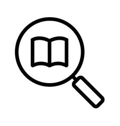 book search linear icon vector image