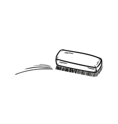 Brush and cleaning up vector