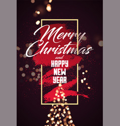 calligraphic christmas card design vector image