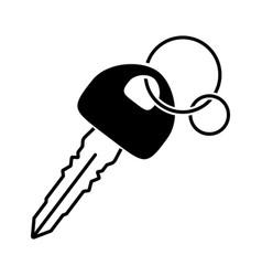 Car key vehicle or automobile key flat icons vector