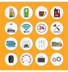 Car service flat icons vector
