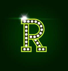 Casino and resort letter r luxury letter vector