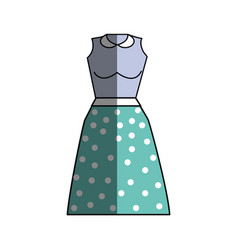 casual blouse and skirt cloth style vector image