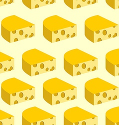Cheese with holes seamless pattern Background of vector image