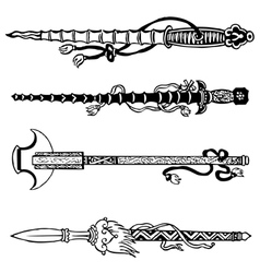 Chinese swords vector