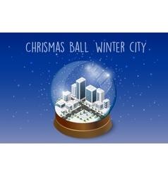 Christmas winter snowbound vector