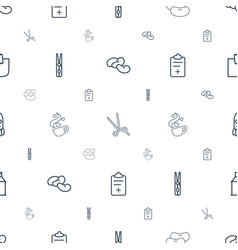 clip icons pattern seamless white background vector image