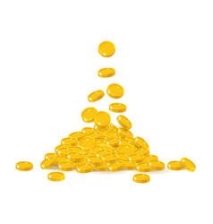 Coin treasure heap vector