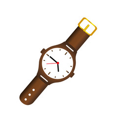 Color silhouette with male wristwatch vector