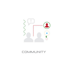 community people group concept social network vector image