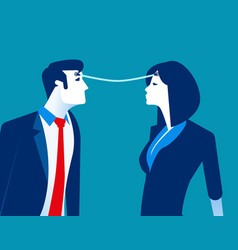 Connection business person exchange ideas vector