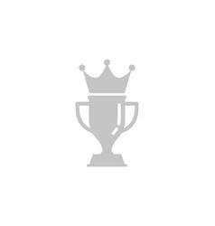 crown trophy logo icon design vector image