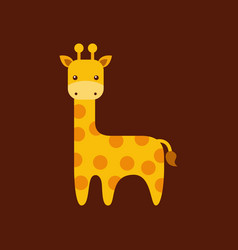 Cute giraffe icon vector