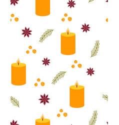 cute seamless pattern with candle vector image