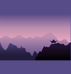 Design of beautiful night landscape vector
