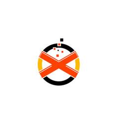 digital letter x pixel icon logo design element vector image