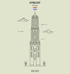 dom tower in utrecht vector image