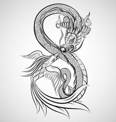Dragon Tattoo Drawing vector