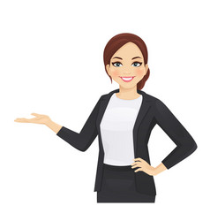 Elegant business woman showing vector