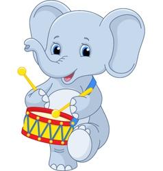 Elephant drummer vector