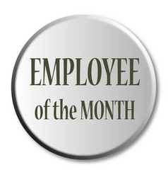 Employee of the month button vector