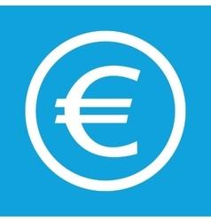 Euro sign icon vector image