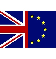 European Union and Great Britain flags concept vector