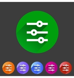 Filter sort settings icon flat web sign symbol vector