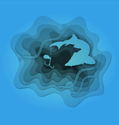 fishing for bait of large fish vector image