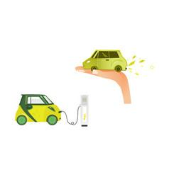 flat renewable alternative energy icon set vector image