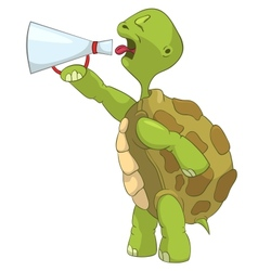 Funny Turtle Screaming vector